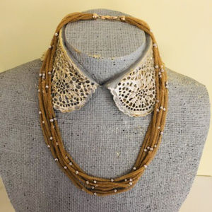 Jewelry - 14KT Two-Toned Multi Stand Mesh Necklace NEW
